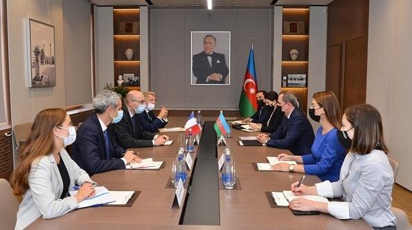 Azerbaijani FM received a delegation Frederic Mondoloni