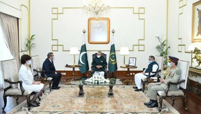 Fərhadov Pakistan prezidenti ilə görüşdü