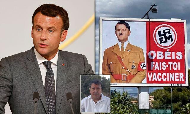 Macron was likened to Hitler -