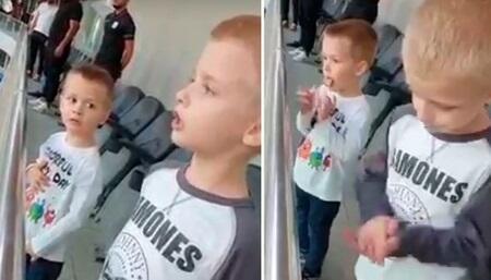 Serbiyalı uşaqlar himnimizi oxudular - Video