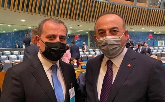 Ceyhun Bayramov Mövlud Çavuşoğlu ilə görüşdü - Foto