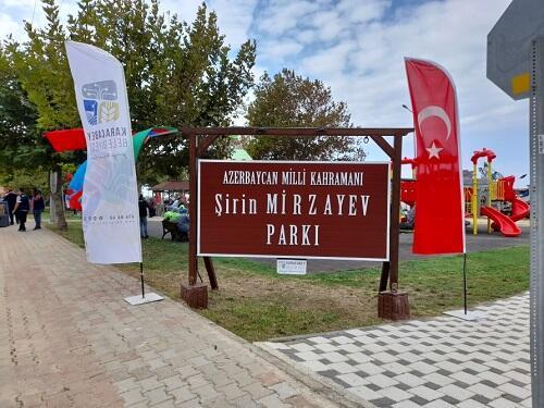 Bursada Şirin Mirzəyev adına park açıldı