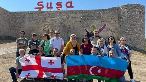 Georgian journalists and experts in Shusha -