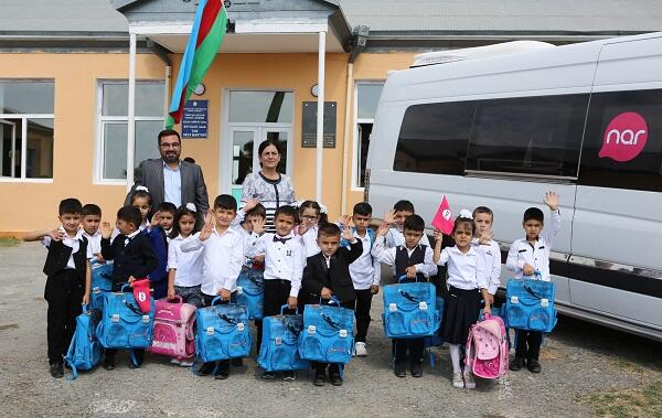 Nar provides school supplies for first graders in Fuzuli