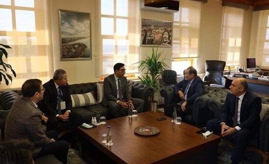 Together with the new Minister Amreyev -