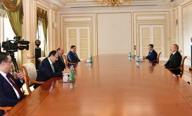 Ilham Aliyev received the Turkish minister