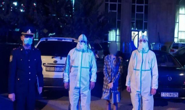 Korona xəstəsi toya gedərkən saxlanıldı - Video