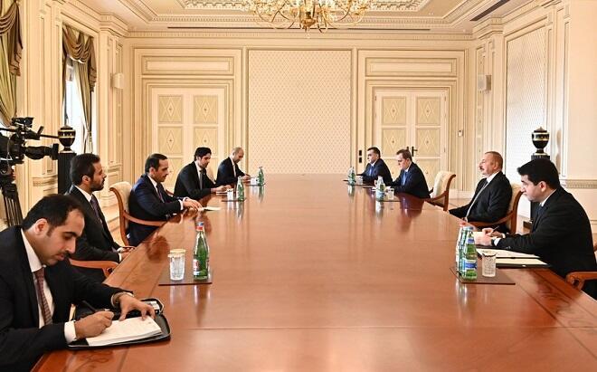 President received deputy prime minister of Qatar