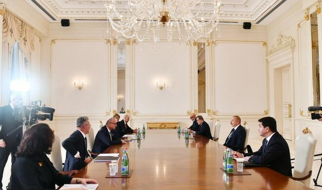 Ilham Aliyev received the Croatian Minister