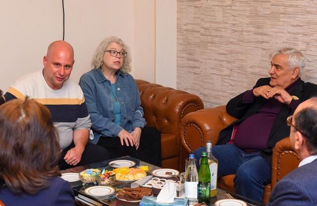 Kamal Abdulla ingilis professorlarla görüşdü