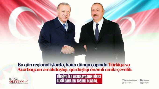 Ilham Aliyev shared a photo with Erdogan