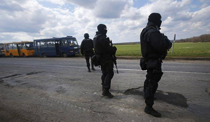 8 Ukrainian servicemen captured
